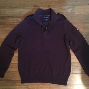 Purple Banana Republic zip up sweater.